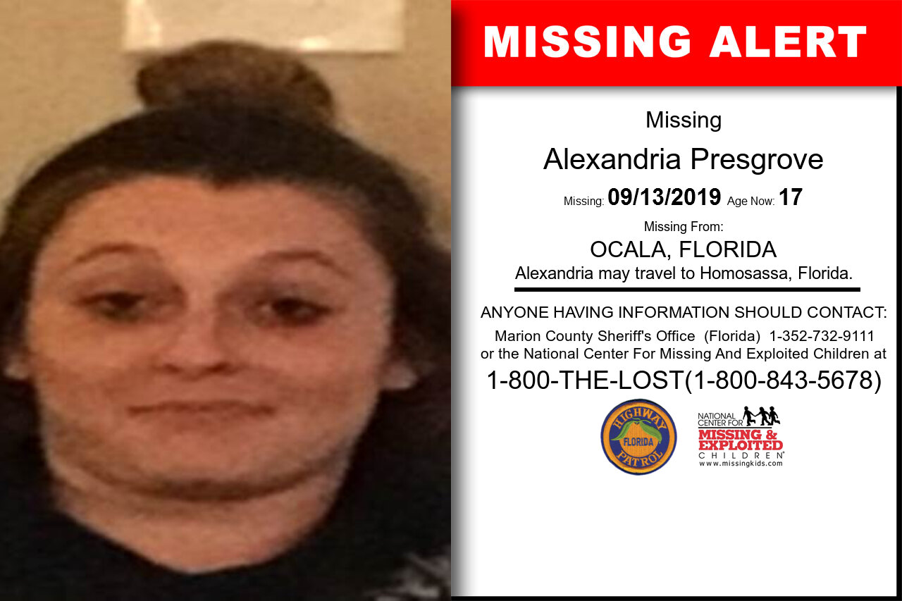Alexandria_Presgrove missing in Florida