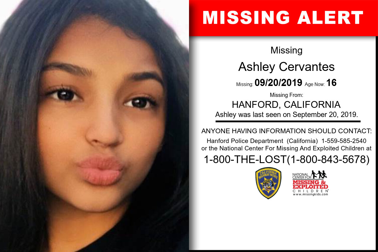 Ashley_Cervantes missing in California