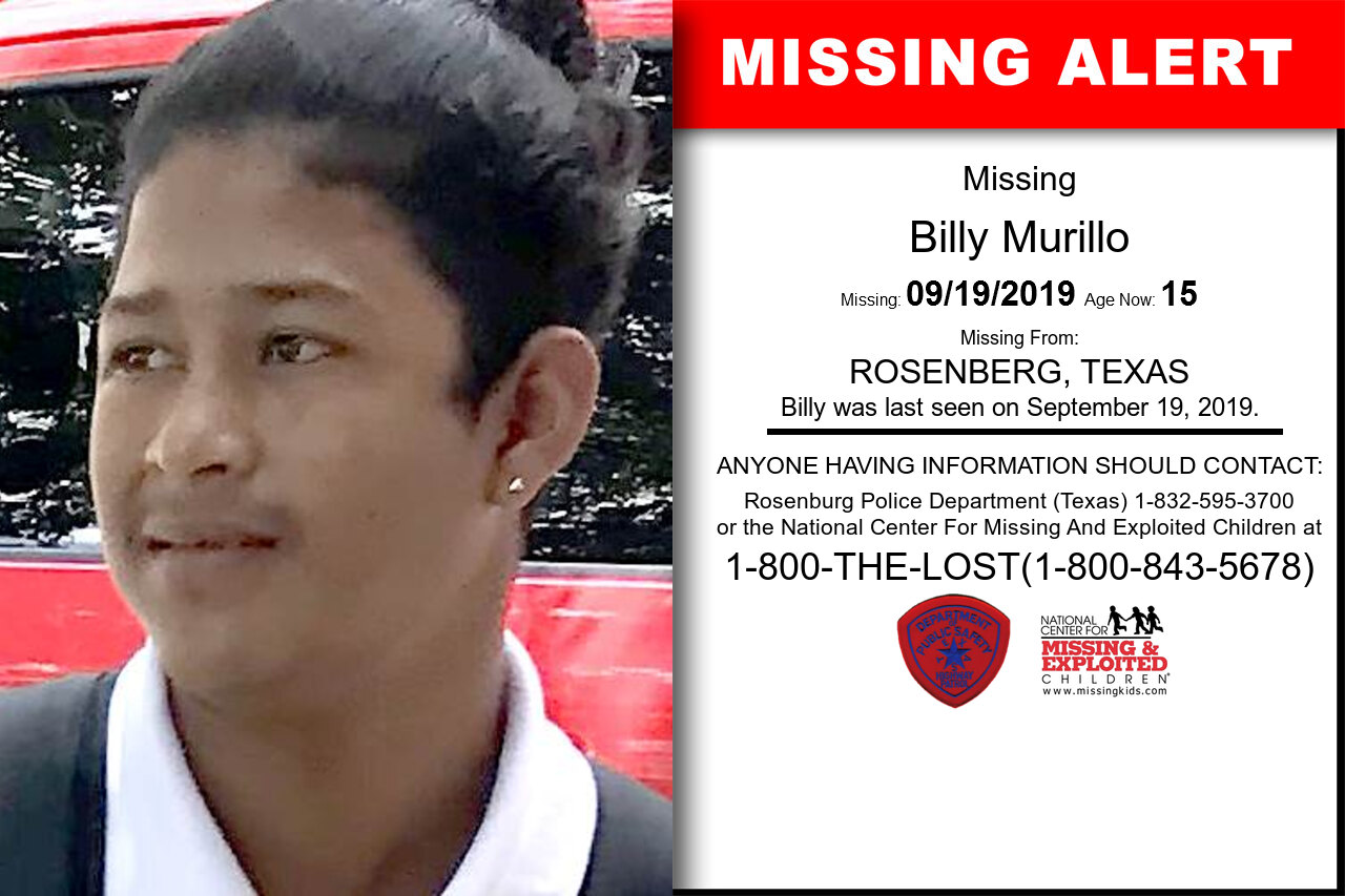 Billy_Murillo missing in Texas