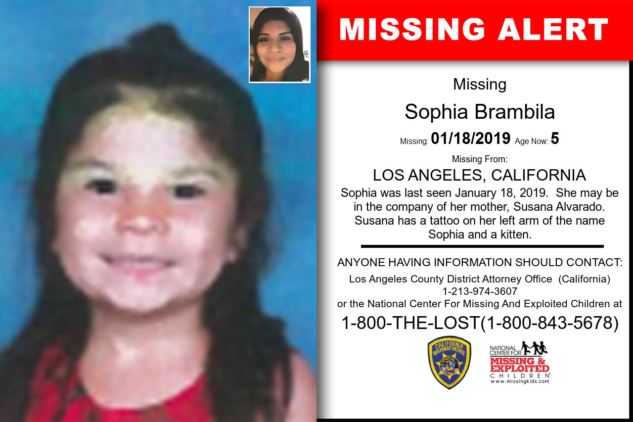 Sophia_Brambila missing in California