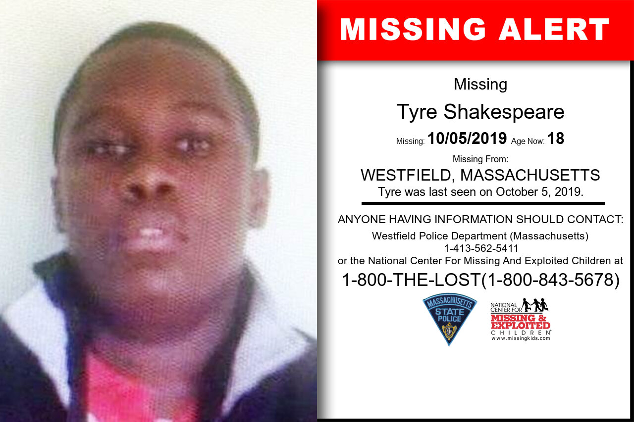Tyre_Shakespeare missing in Massachusetts