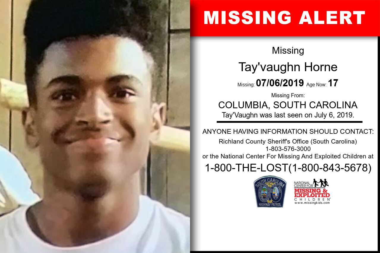 TAY'VAUGHN_HORNE missing in South_Carolina