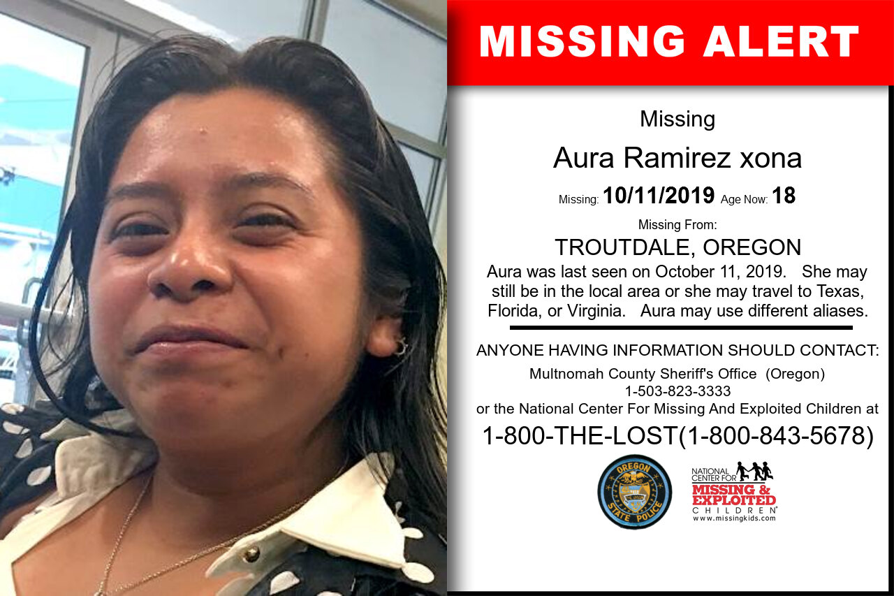 AURA_RAMIREZ_XONA missing in Oregon