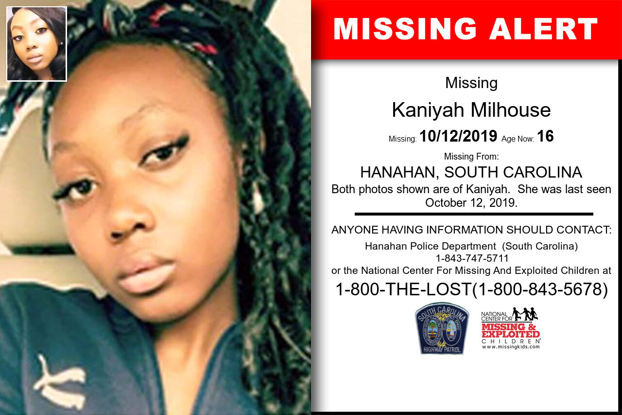 Kaniyah_Milhouse missing in South_Carolina