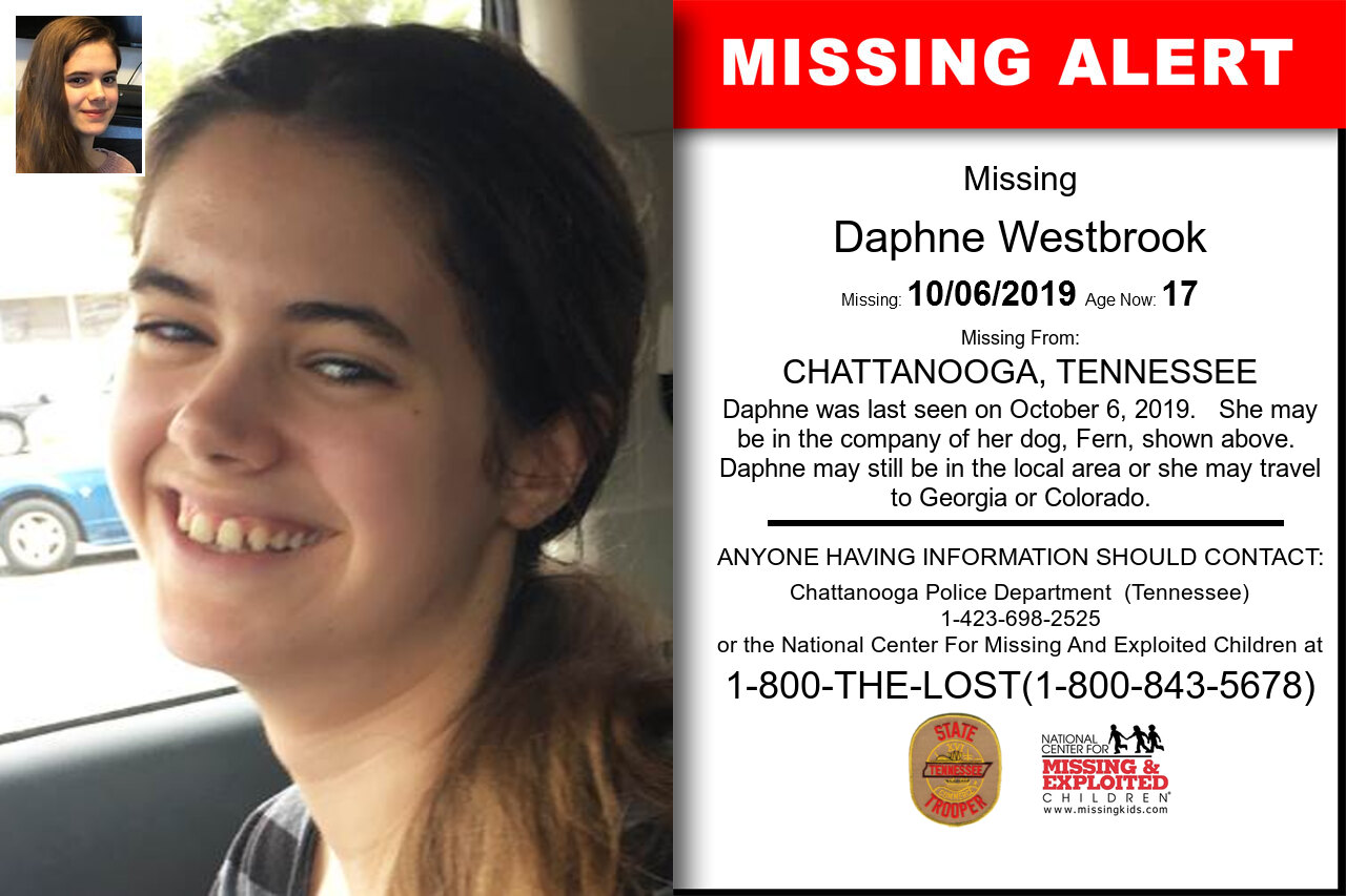 DAPHNE_WESTBROOK missing in Tennessee