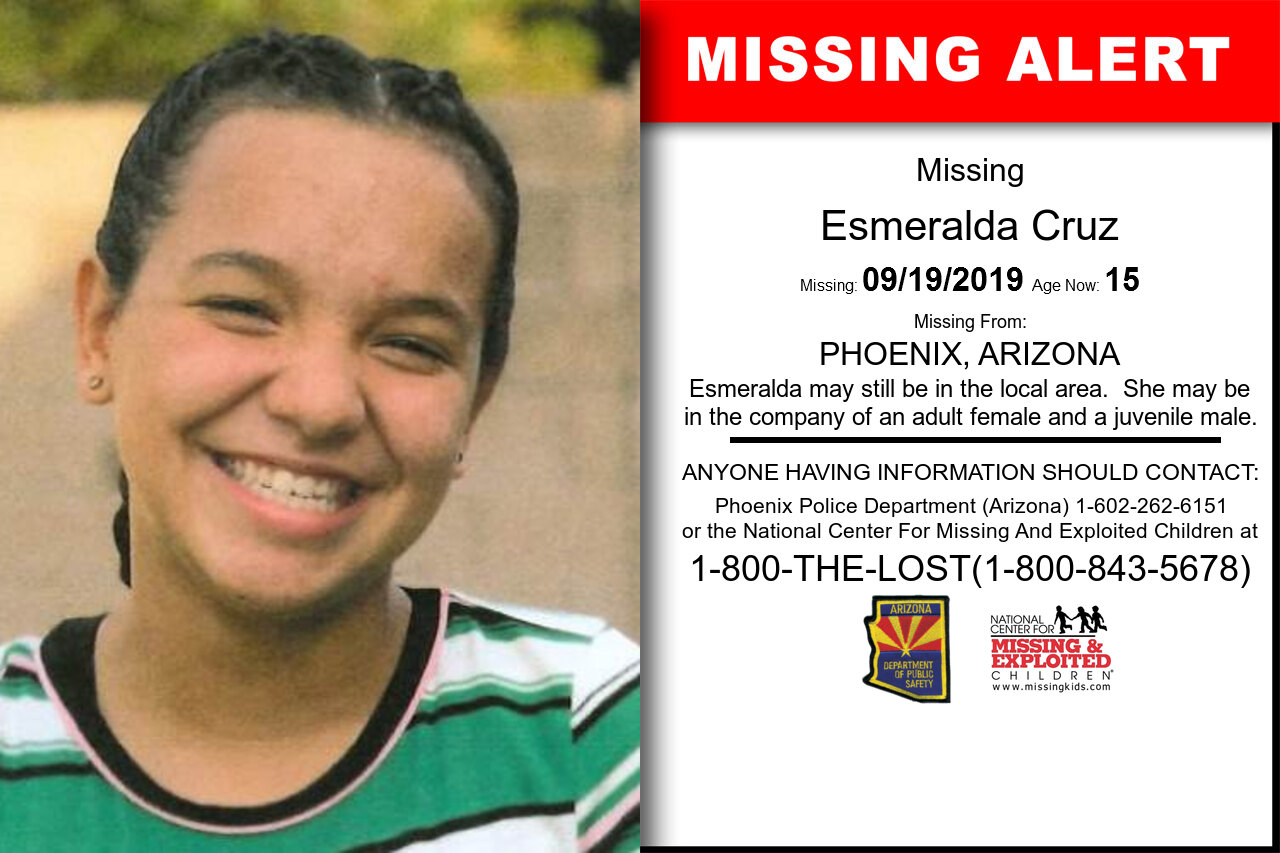 Esmeralda_Cruz missing in Arizona