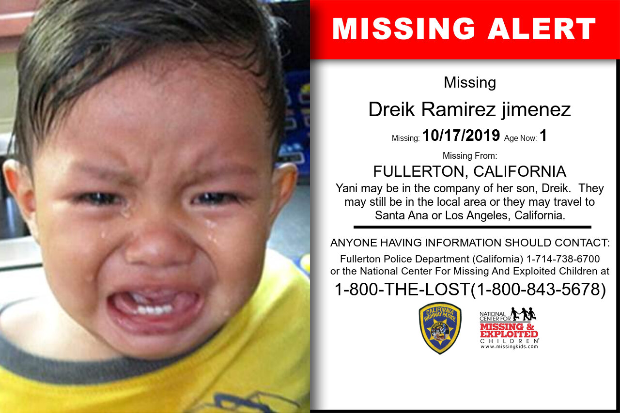DREIK_RAMIREZ_JIMENEZ missing in California