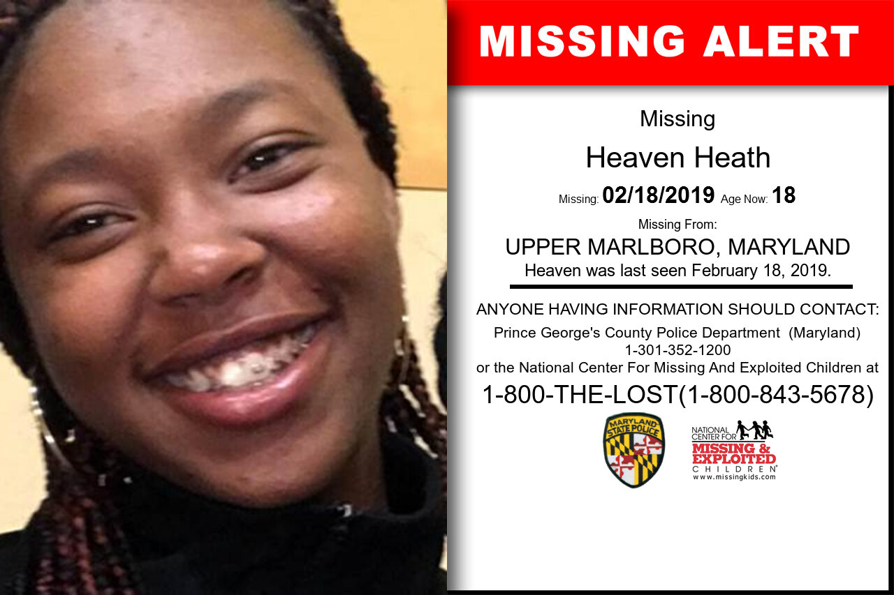Heaven_Heath missing in Maryland