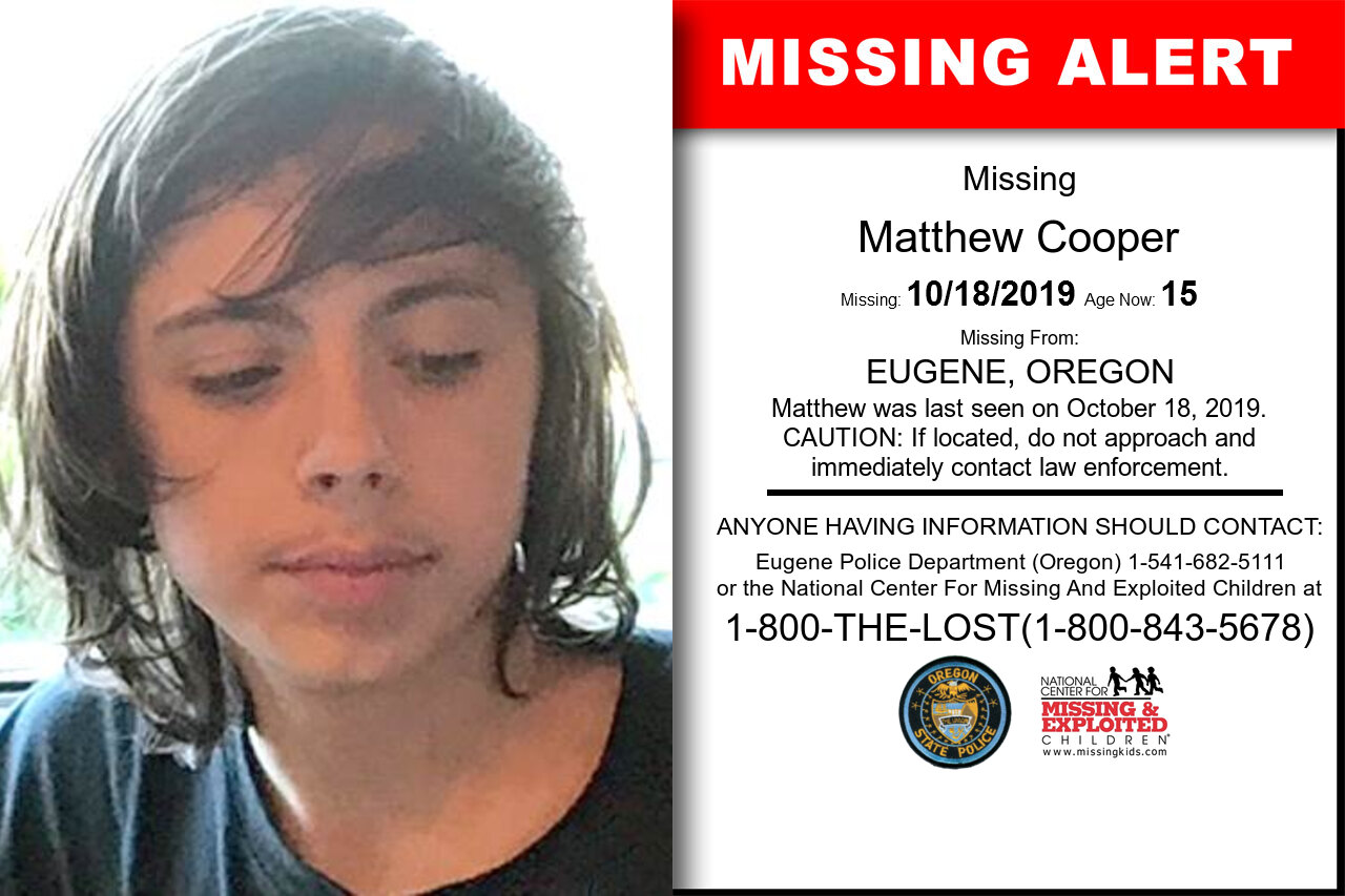 MATTHEW_COOPER missing in Oregon