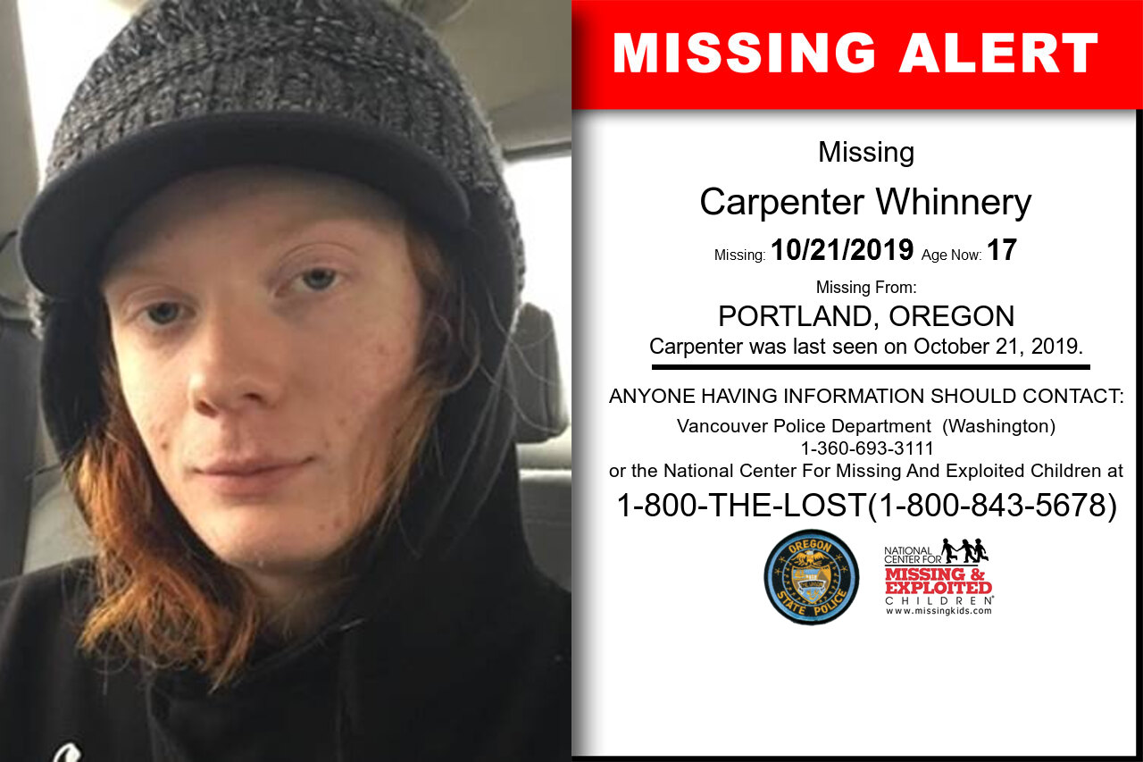 CARPENTER_WHINNERY missing in Oregon