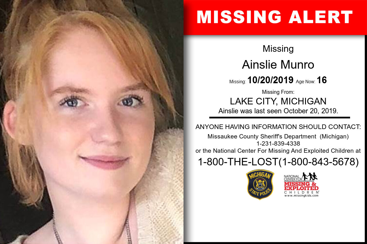 AINSLIE_MUNRO missing in Michigan