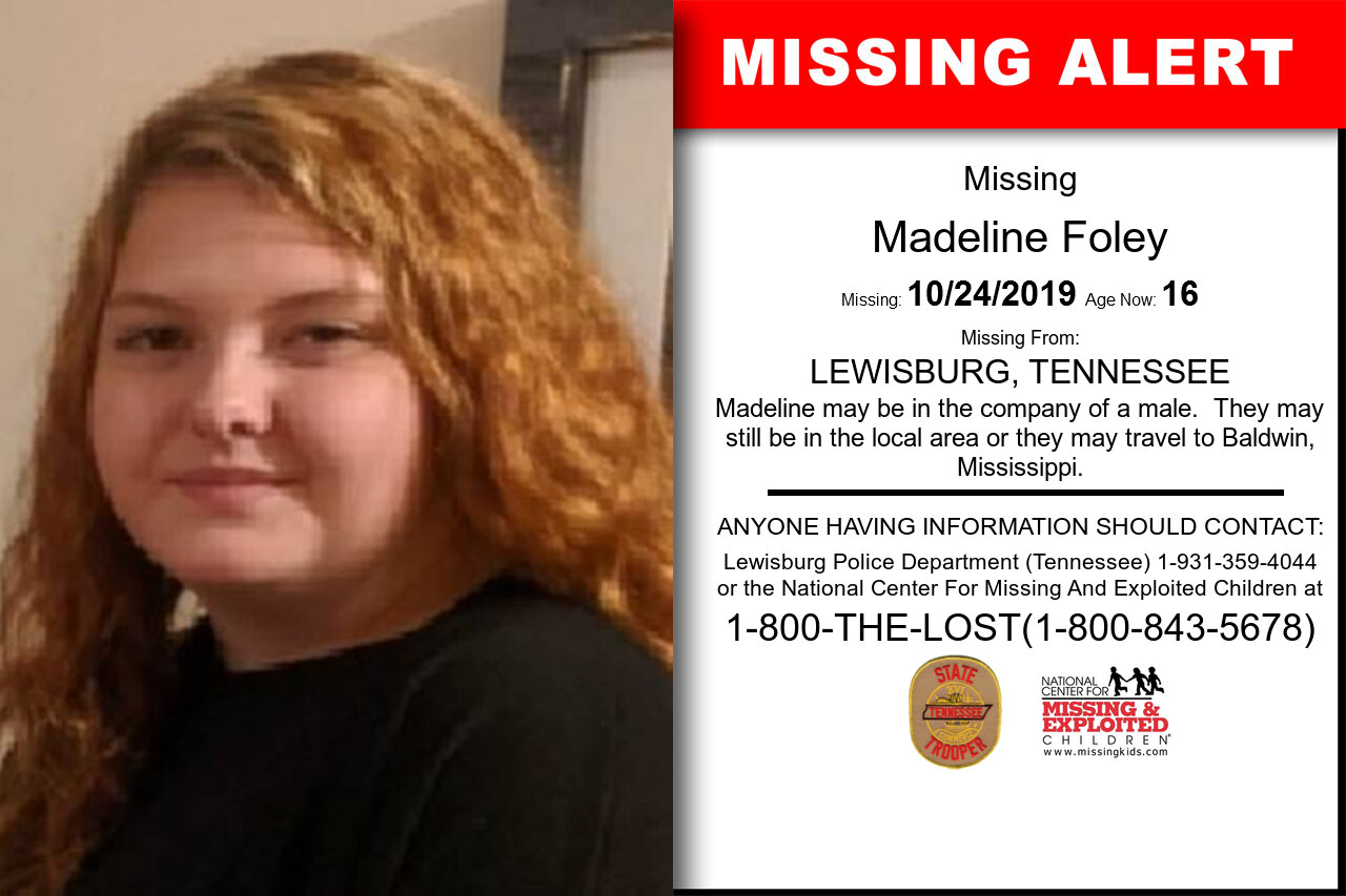 Madeline_Foley missing in Tennessee