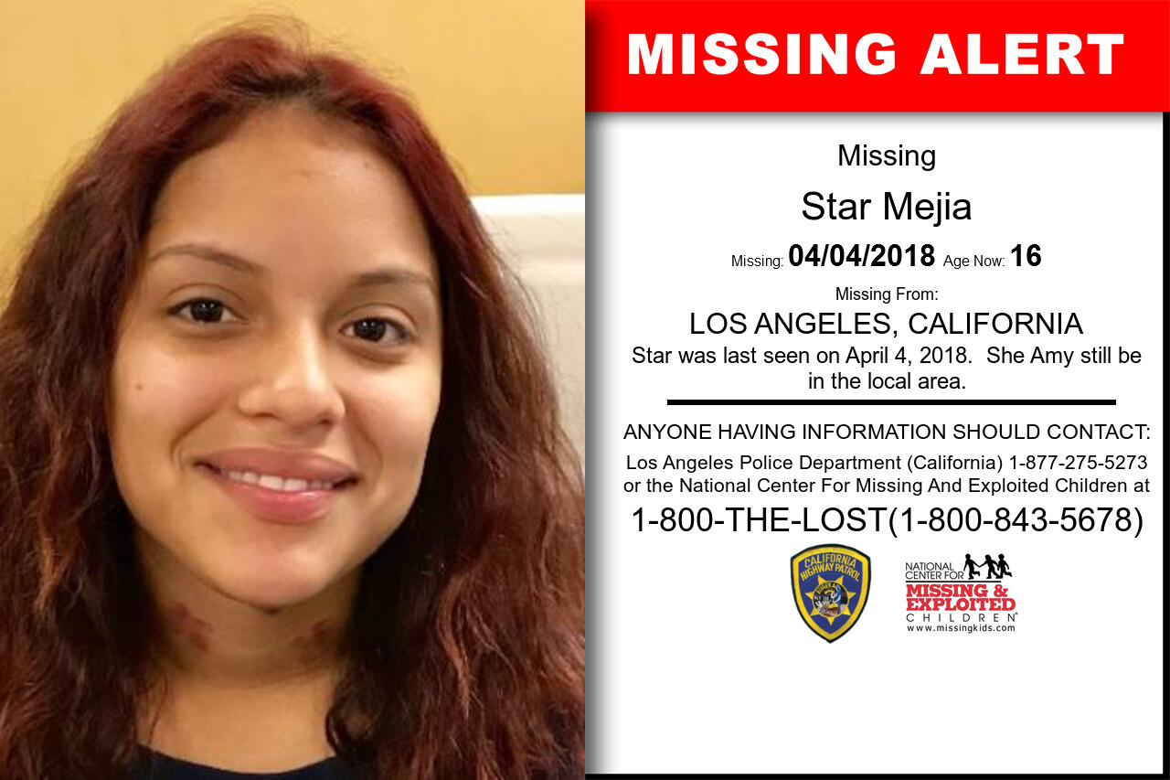 STAR_MEJIA missing in California