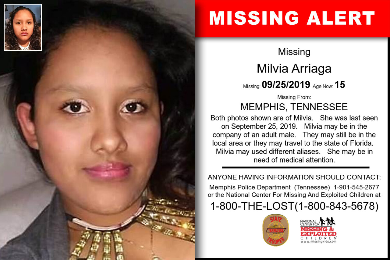 Milvia_Arriaga missing in Tennessee