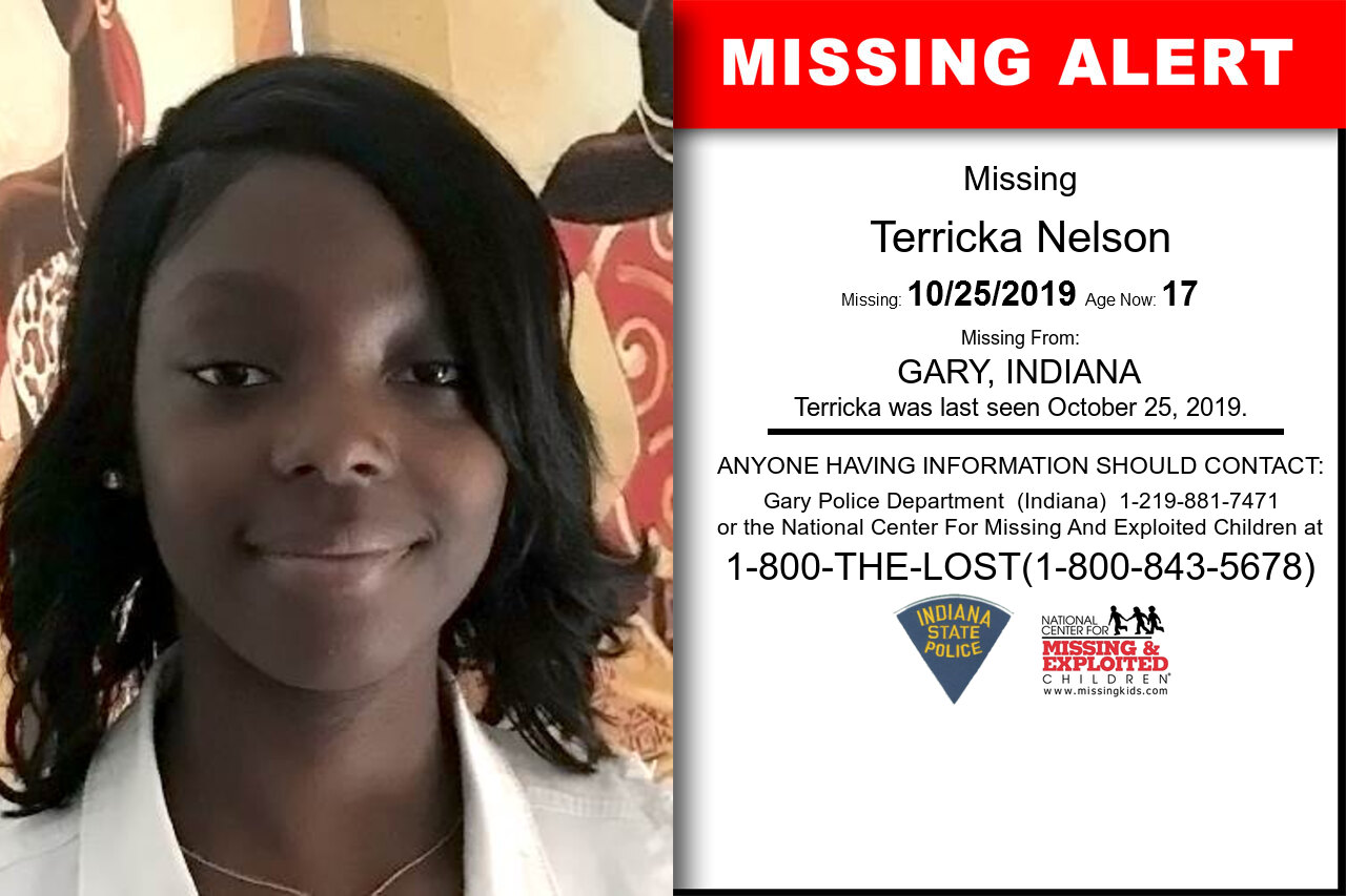 TERRICKA_NELSON missing in Indiana