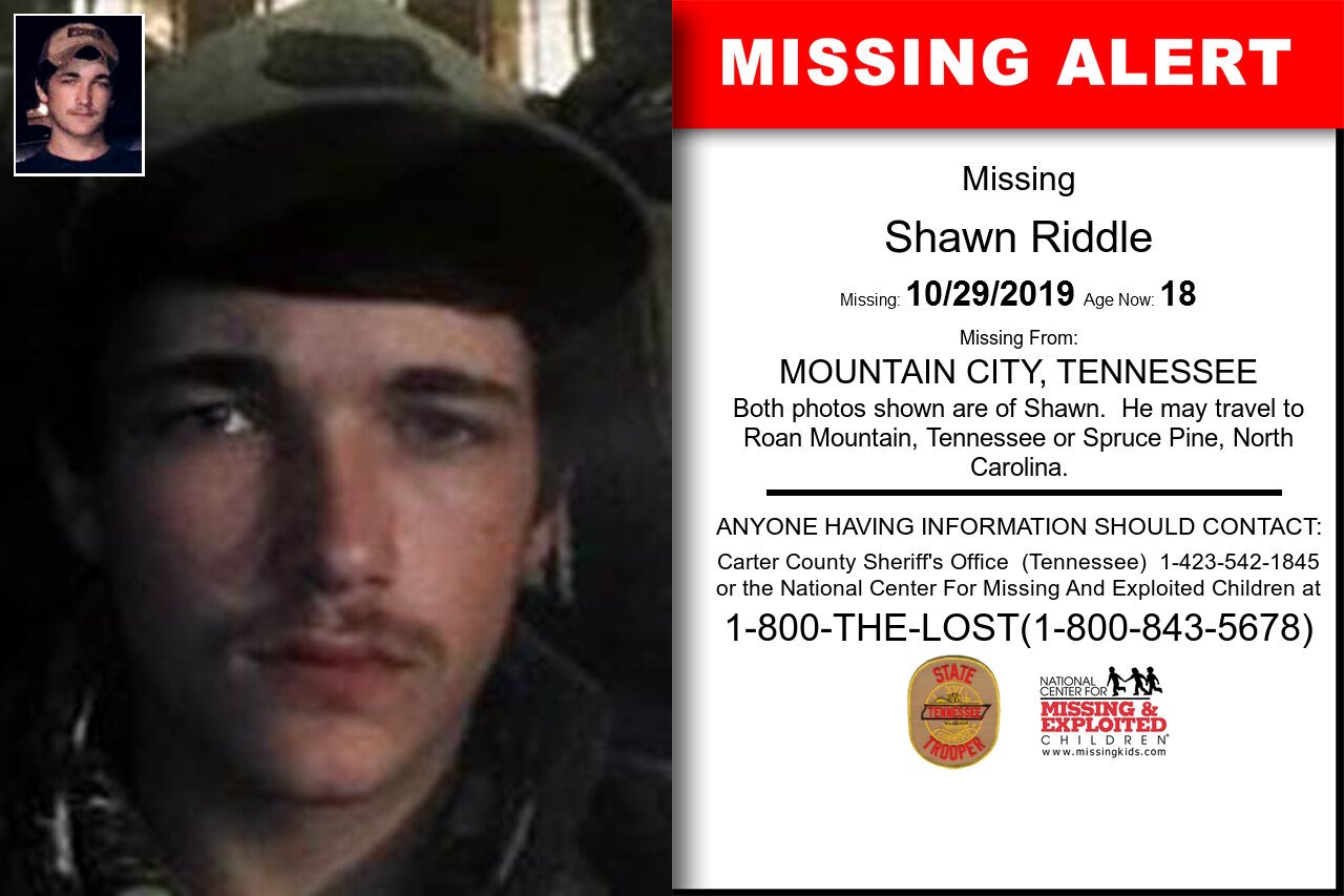 SHAWN_RIDDLE missing in Tennessee