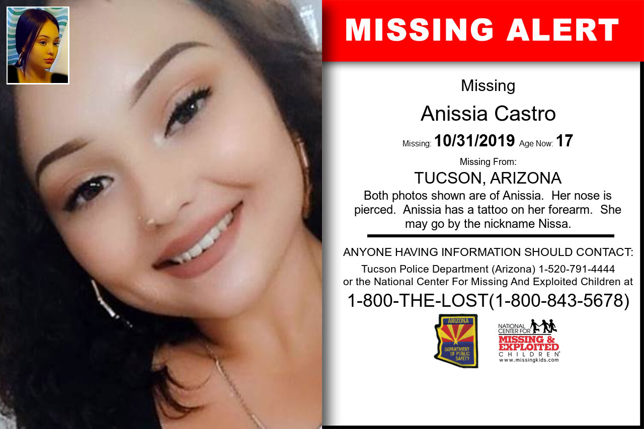 ANISSIA_CASTRO missing in Arizona