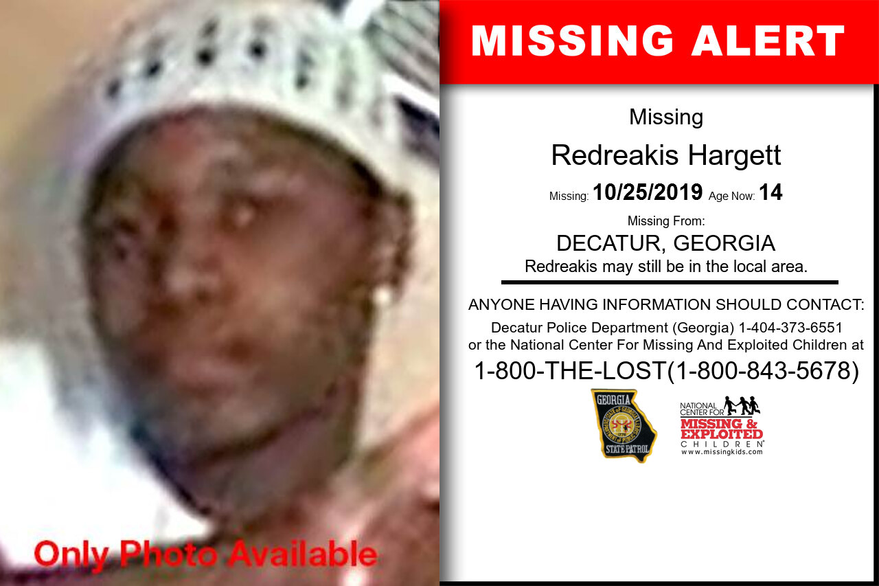 REDREAKIS_HARGETT missing in Georgia