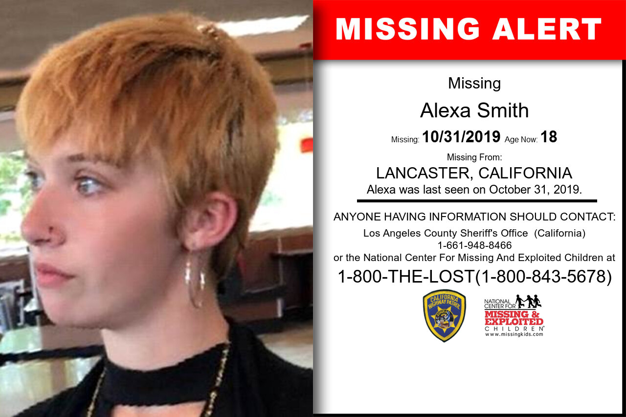 Alexa_Smith missing in California