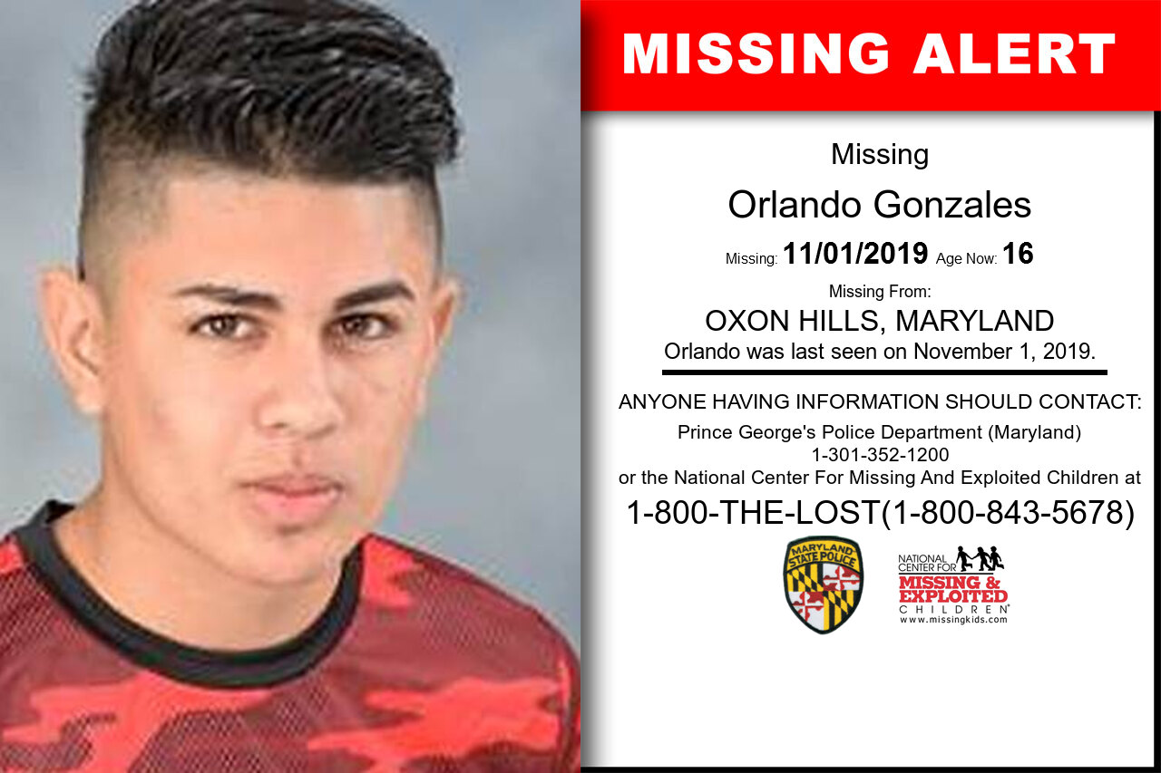 Orlando_Gonzales missing in Maryland