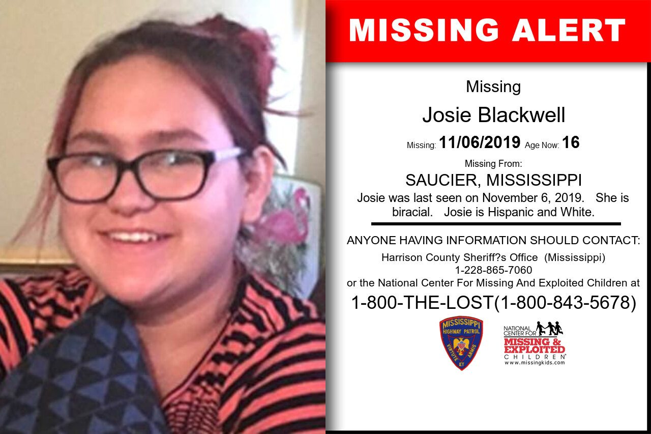 Josie_Blackwell missing in Mississippi