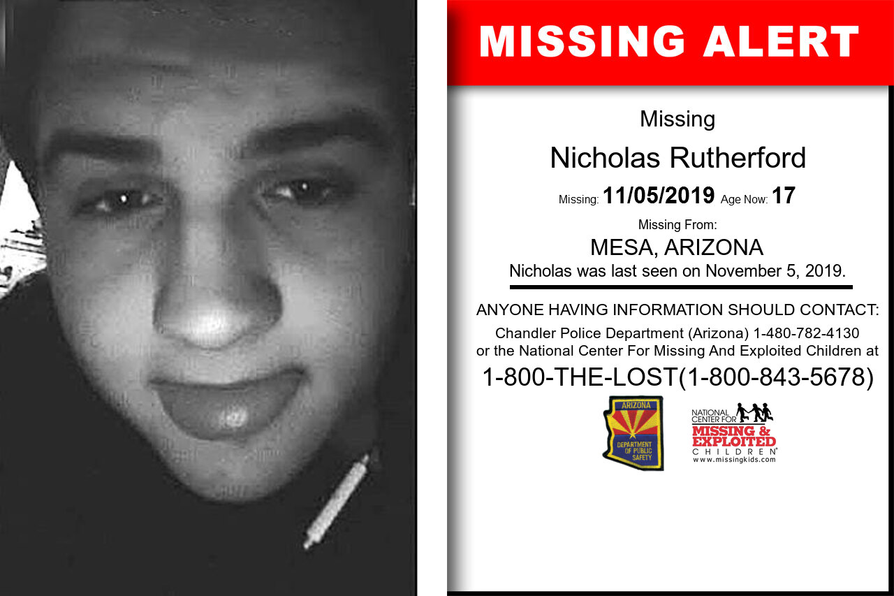 Nicholas_Rutherford missing in Arizona