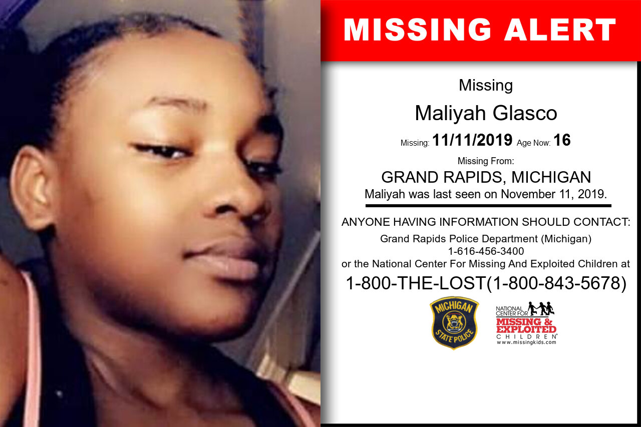 Maliyah_Glasco missing in Michigan