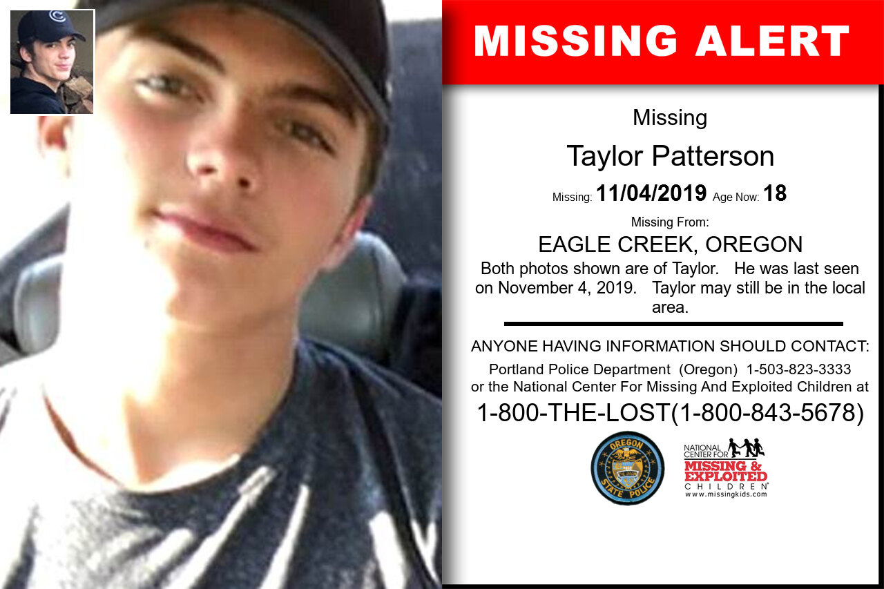 Taylor_Patterson missing in Oregon