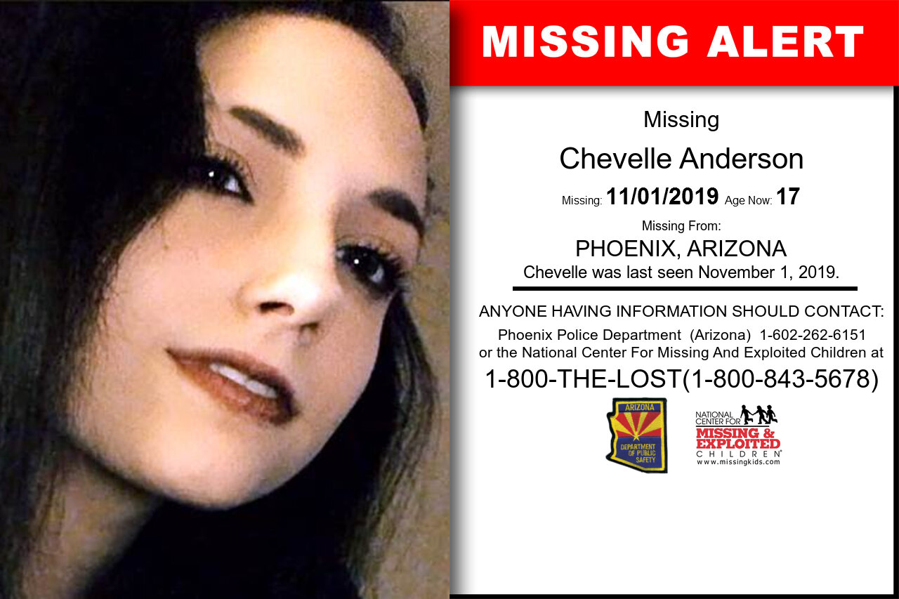 CHEVELLE_ANDERSON missing in Arizona