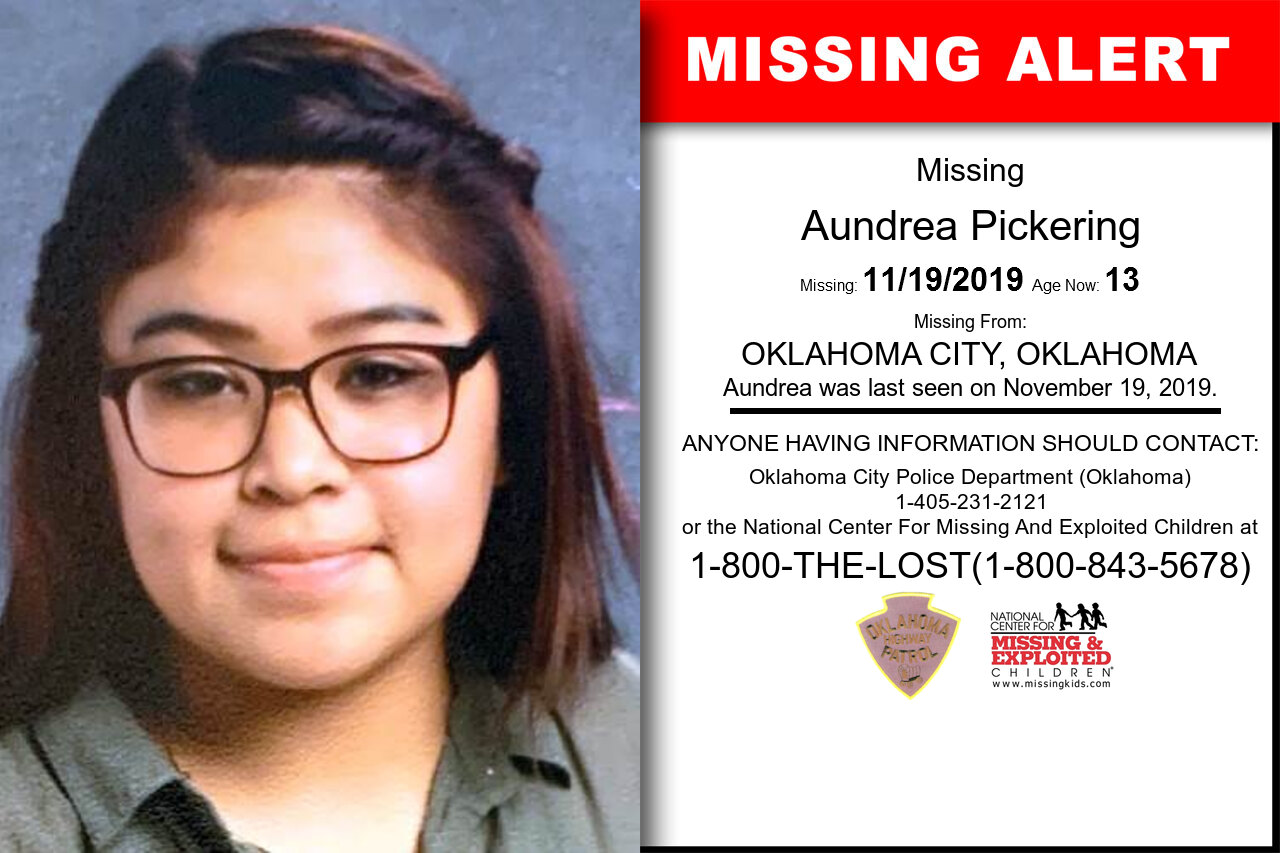 Aundrea_Pickering missing in Oklahoma