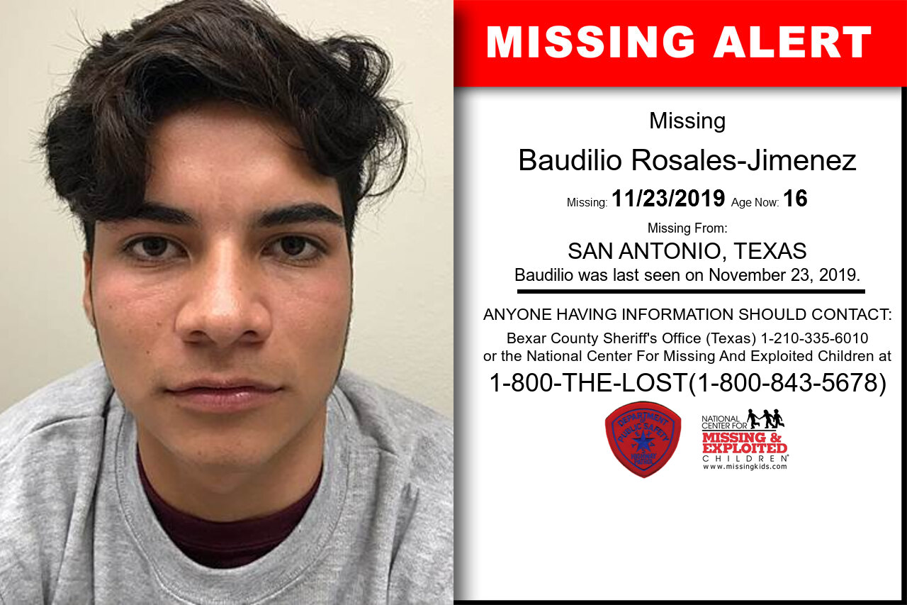 Baudilio_Rosales-Jimenez missing in Texas