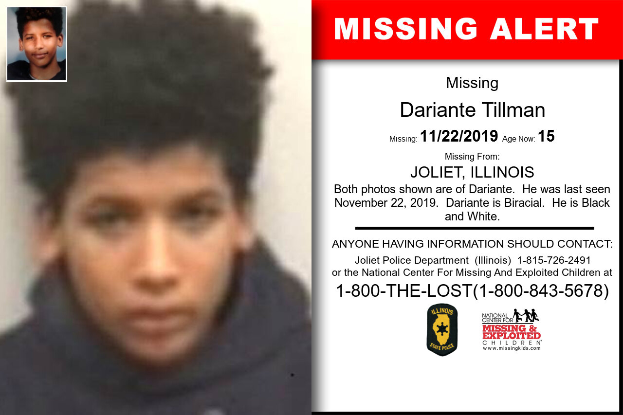 Dariante_Tillman missing in Illinois