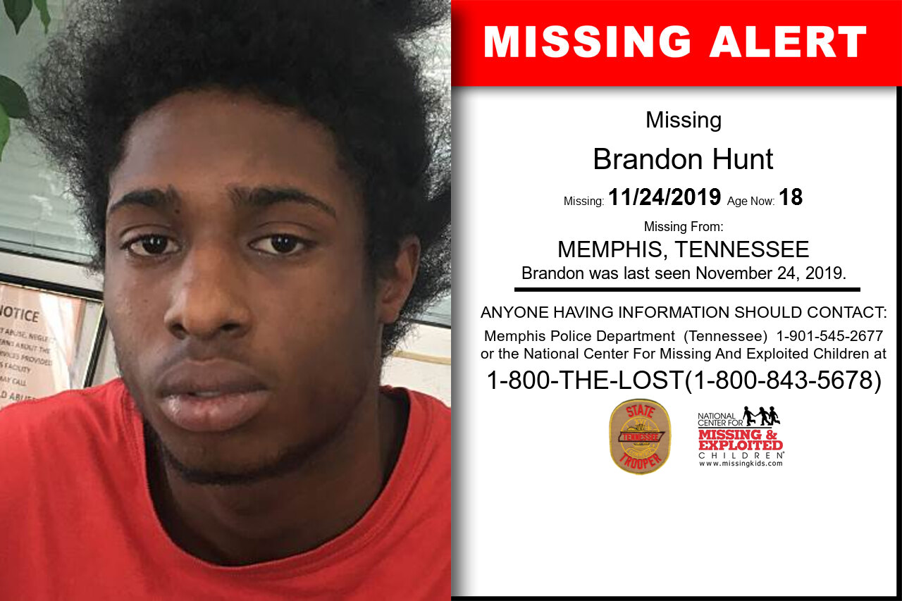 Brandon_Hunt missing in Tennessee