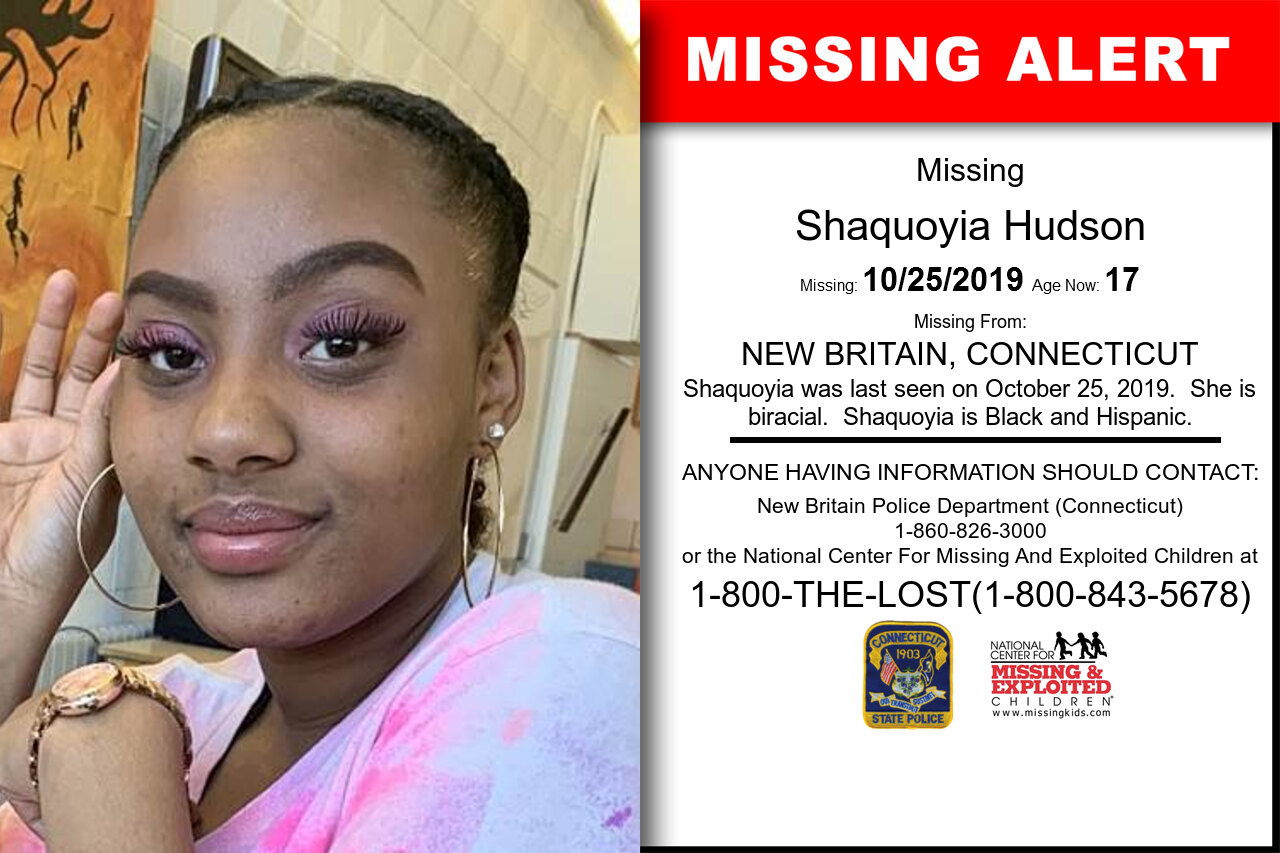 Shaquoyia_Hudson missing in Connecticut