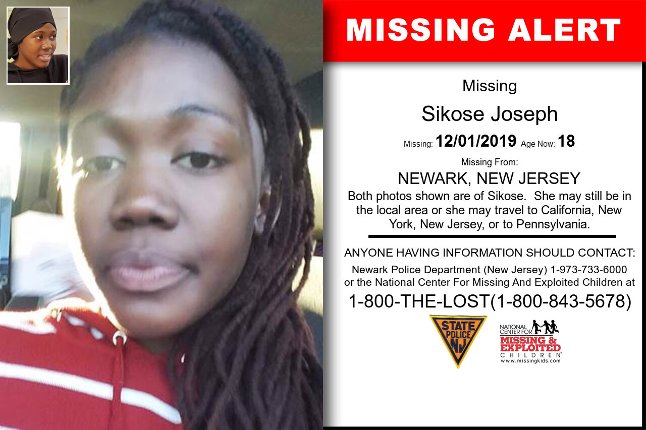 Sikose_Joseph missing in New_Jersey