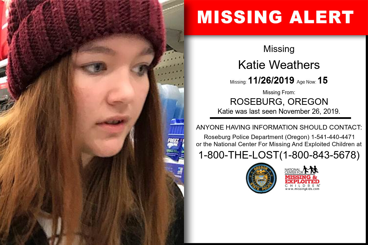 Katie_Weathers missing in Oregon