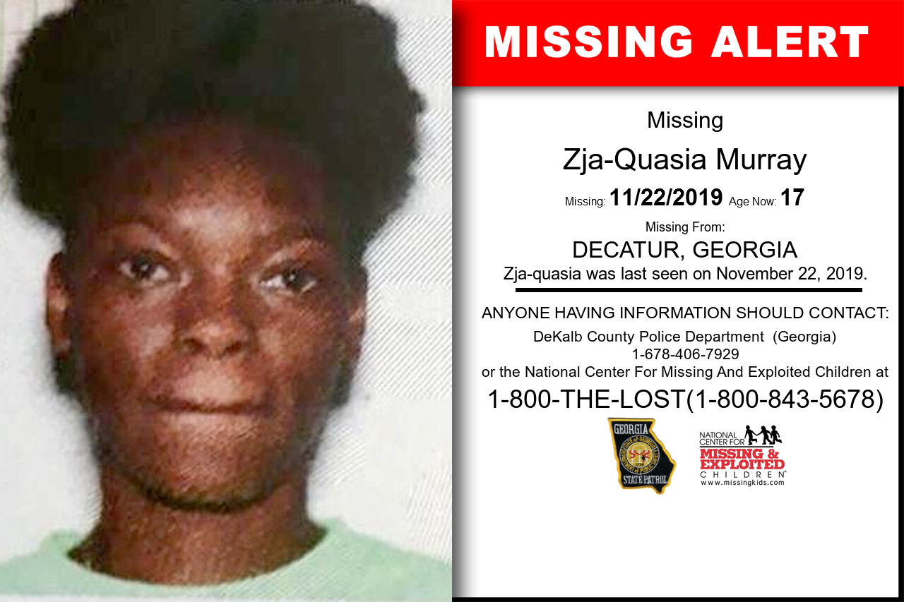Zja-Quasia_Murray missing in Georgia
