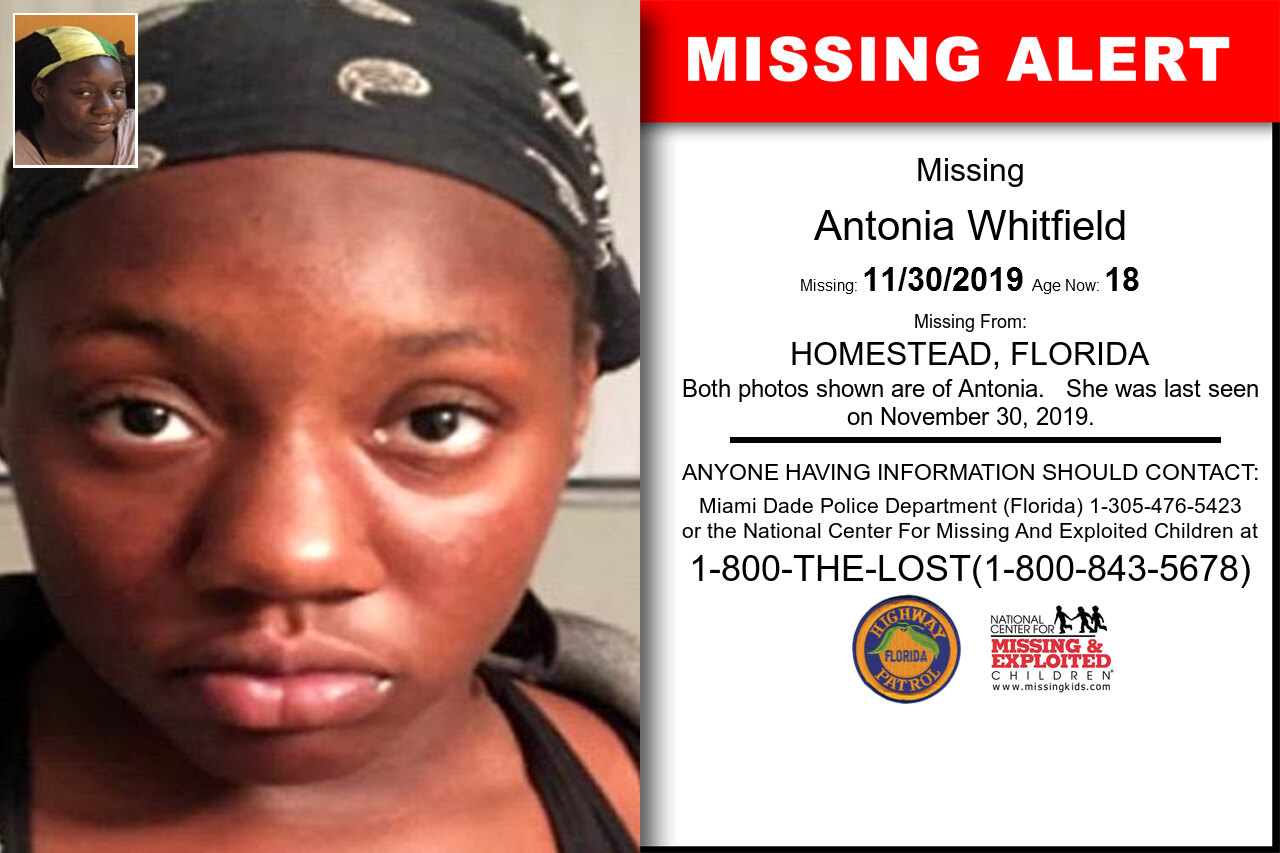 Antonia_Whitfield missing in Florida