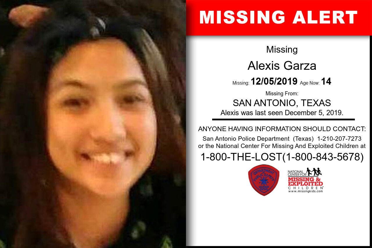 Alexis_Garza missing in Texas