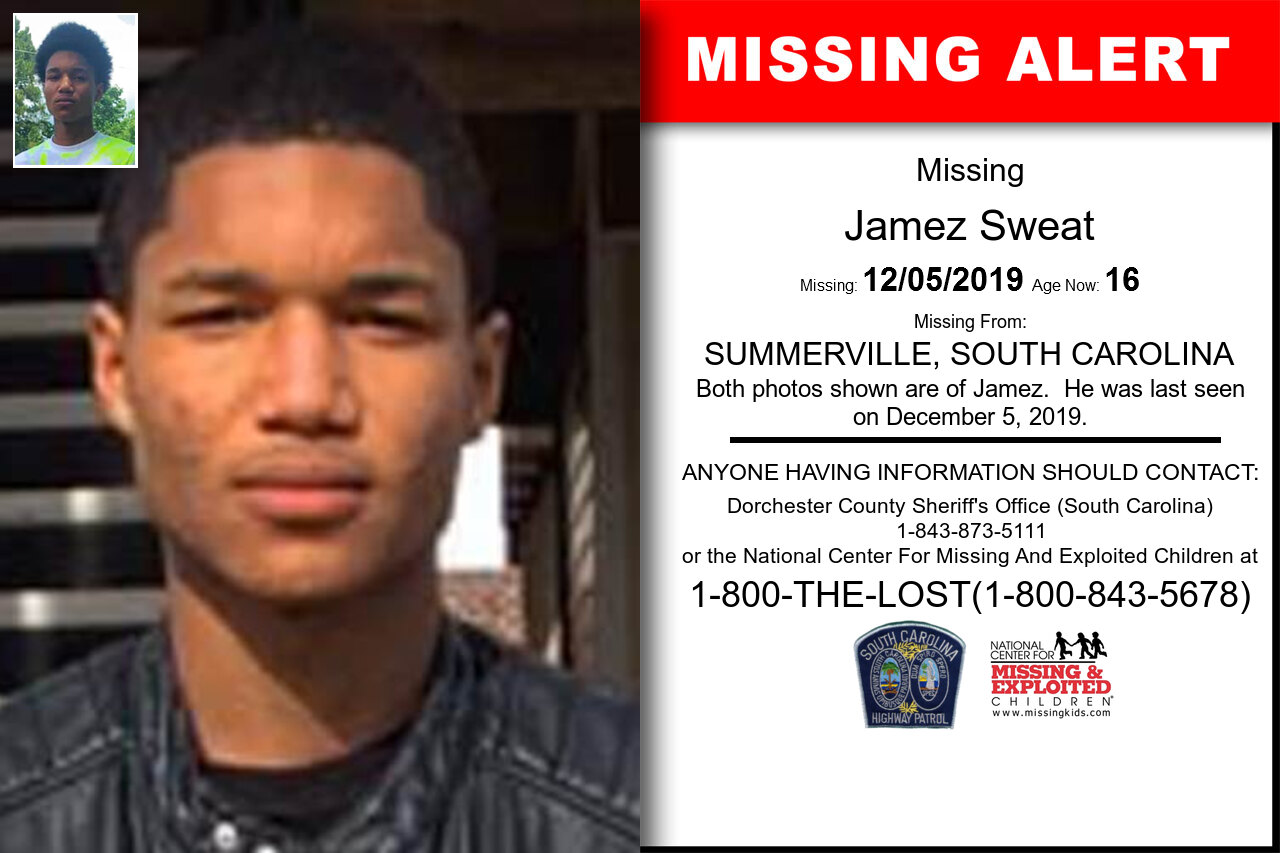 Jamez_Sweat missing in South_Carolina
