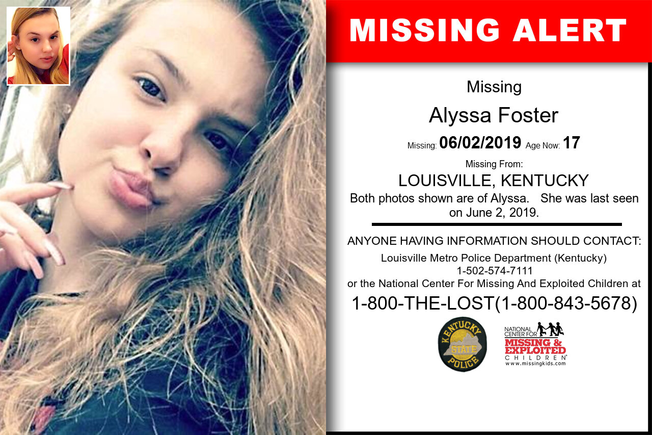 ALYSSA_FOSTER missing in Kentucky