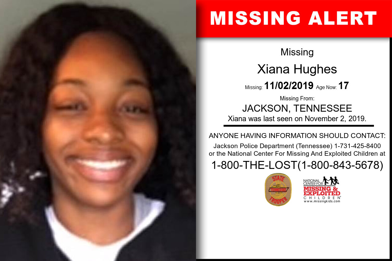 Xiana_Hughes missing in Tennessee