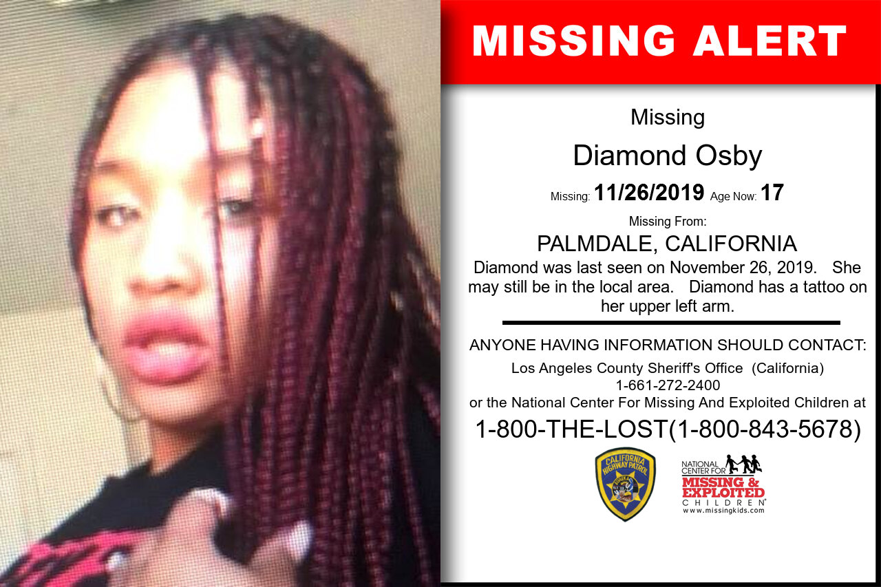 Diamond_Osby missing in California