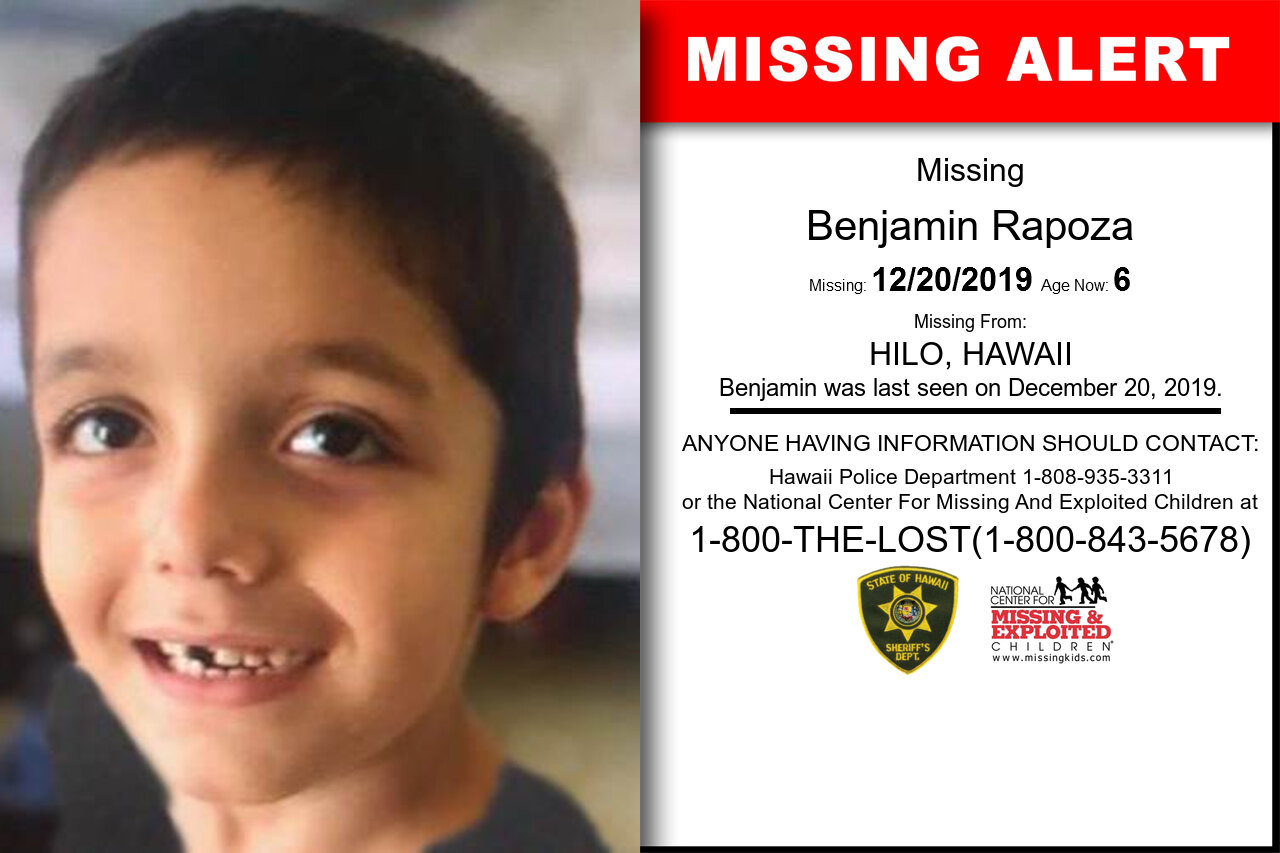 BENJAMIN_RAPOZA missing in Hawaii