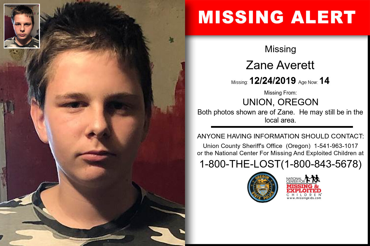 ZANE_AVERETT missing in Oregon