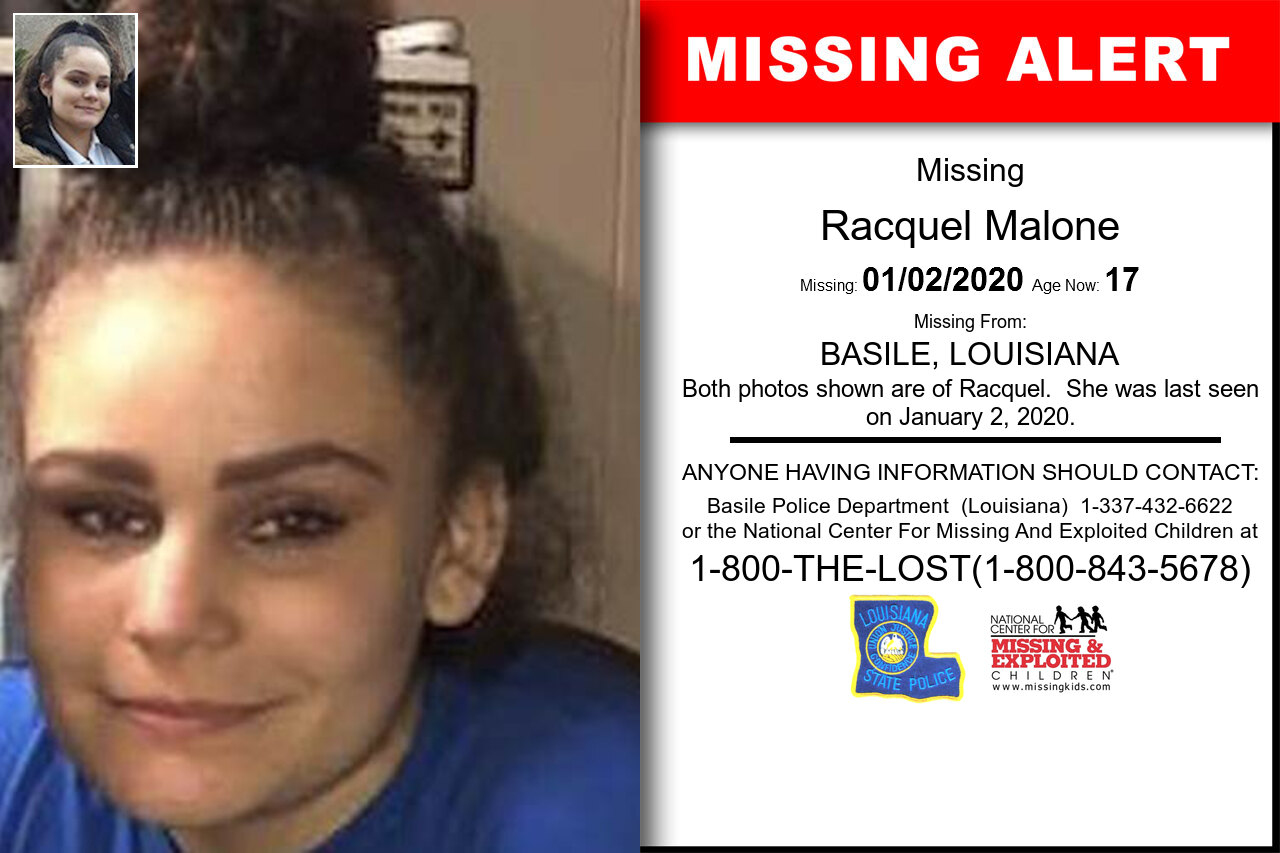 Racquel_Malone missing in Louisiana