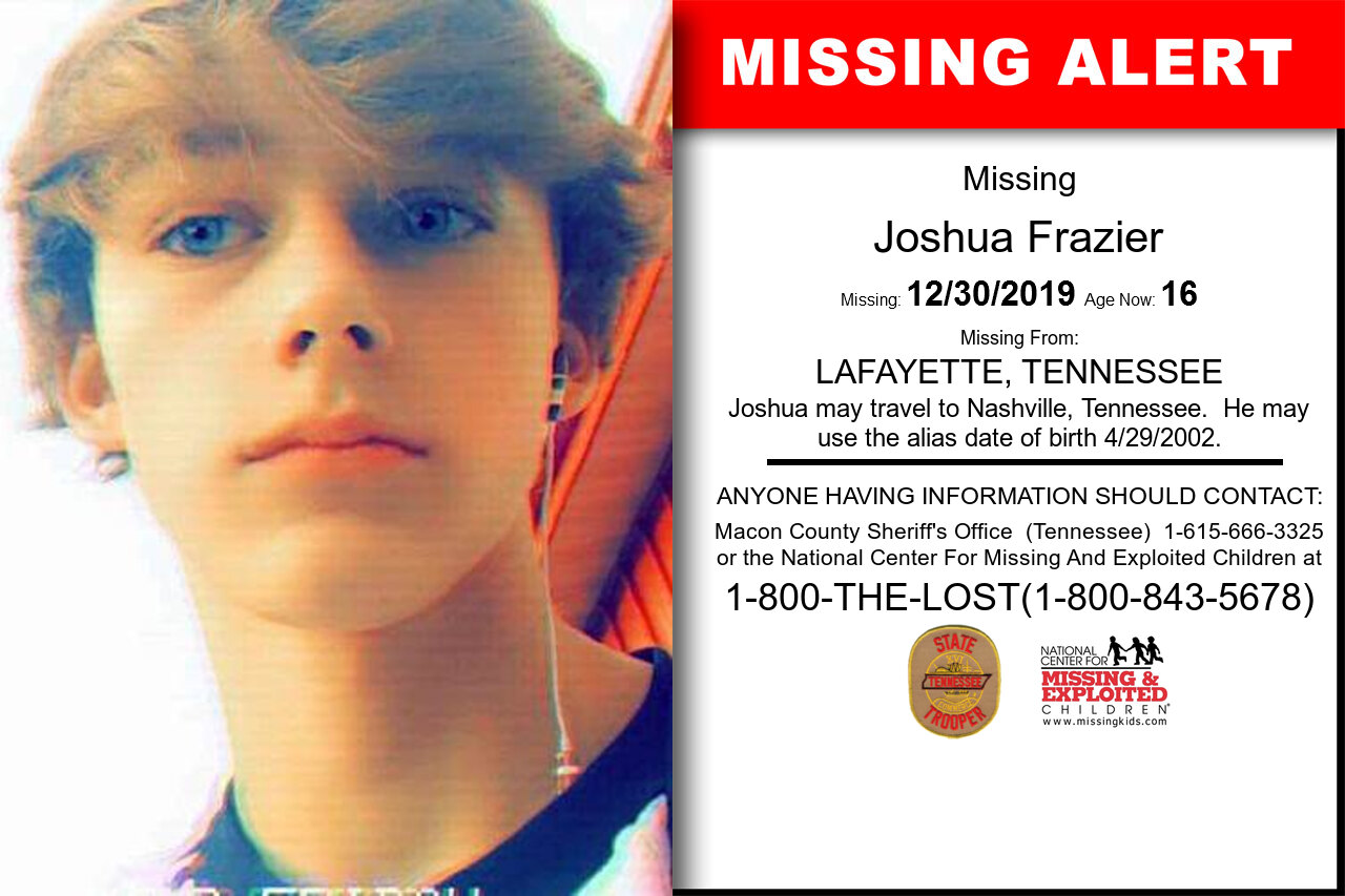 Joshua_Frazier missing in Tennessee