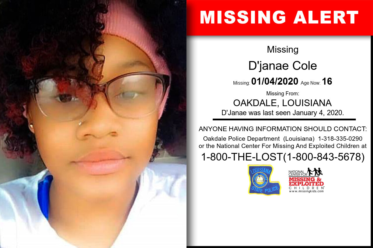 D'JANAE_COLE missing in Louisiana