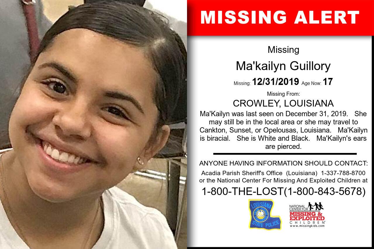 Ma'kailyn_Guillory missing in Louisiana