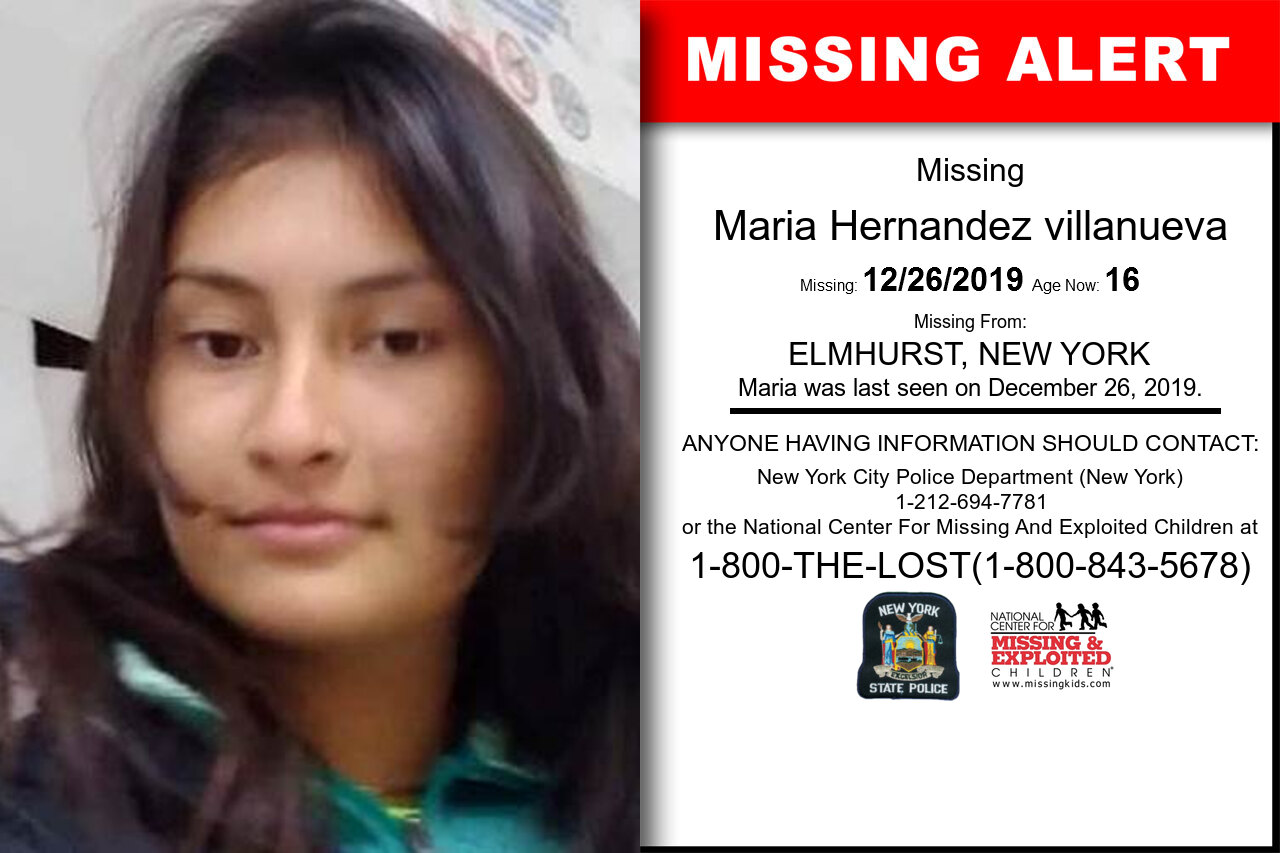 MARIA_HERNANDEZ_VILLANUEVA missing in New_York